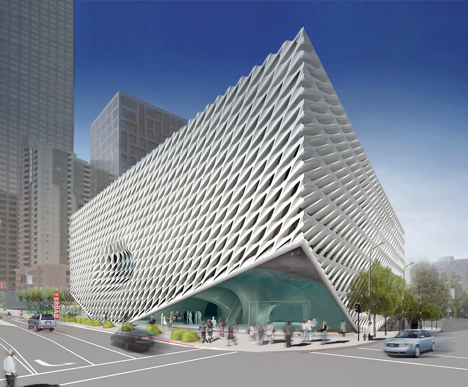 exterior view of The Broad, image via Diller Scofidio + Renfro