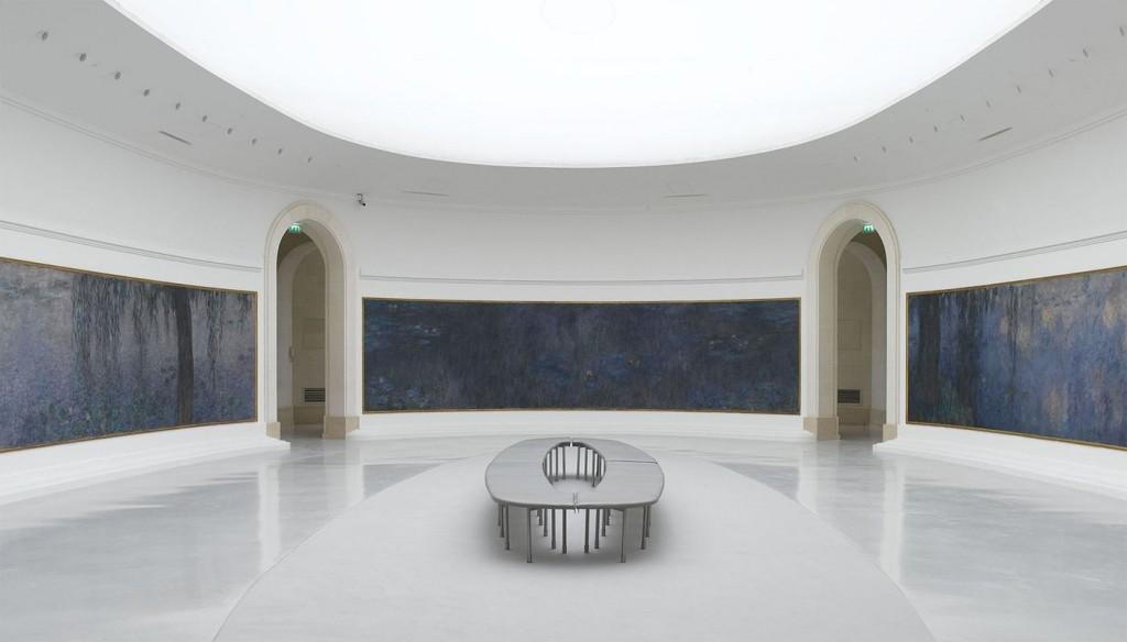 Monet's Nymphéas at the Musée de l'Orangerie: Reflets d'arbres, Le Matin clair aux saules, and Le Matin aux saules; photograph by Louison Larbodie for Maze Magazine
