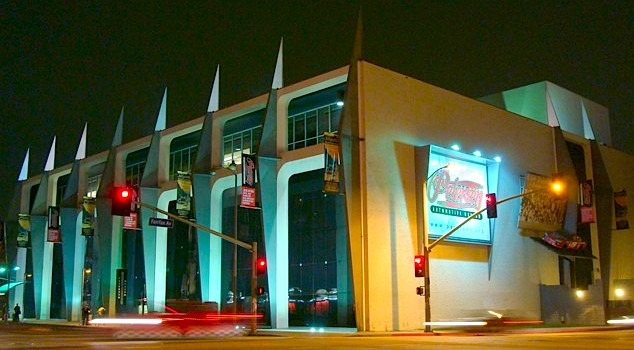 exterior view of the Petersen Automotive Museum