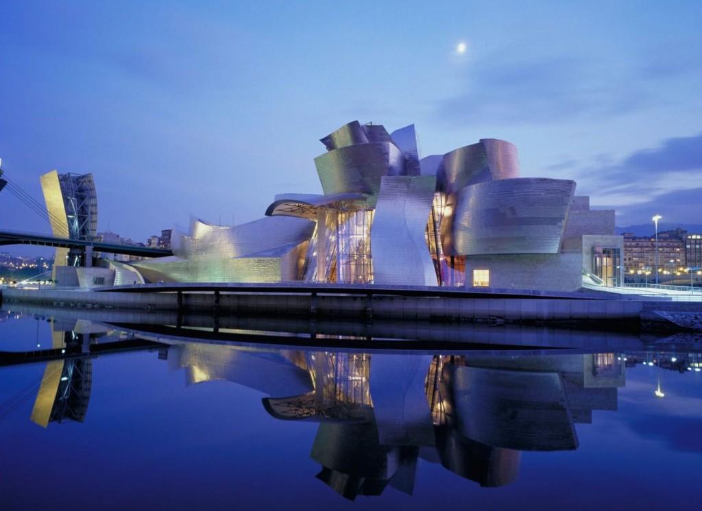Guggenheim Bilbao, designed by Frank Gehry; image via Guggenheim Bilbao