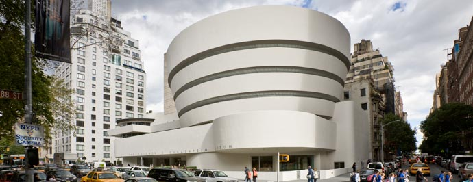 Solomon R. Guggenheim Museum, designed by Frank Lloyd Wright; image via Guggenheim