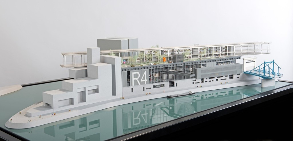 model of the Île Seguin development by Jean Nouvel, image © Daniel Runacher