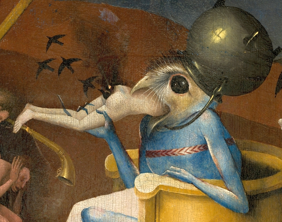 Hieronymus Bosch, The Garden of Earthly Delights (detail view), ca. 1500 - 1505, oil on oak panels, 220 x 389 cm, Museo del Prado, Madrid