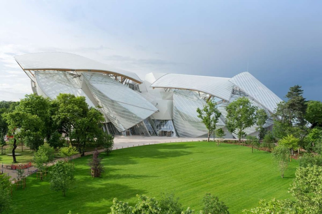 The Fondation Louis Vuitton, in the Bois de Boulogne, Paris; photo courtesy of Fondation Louis Vuitton