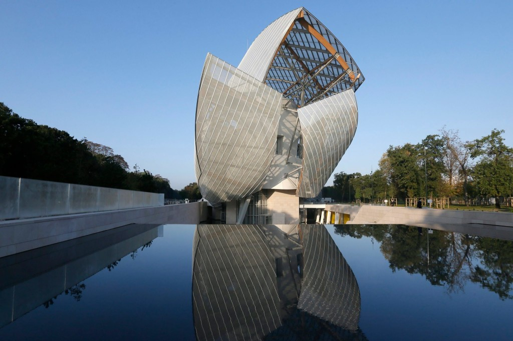 The Fondation Louis Vuitton, in the Bois de Boulogne, Paris; photo copyright Gonzalo Fuentes / Reuters