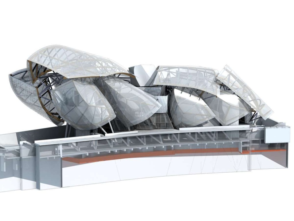 Structure Diagram of the Fondation Louis Vuitton; image courtesy of Fondation Louis Vuitton