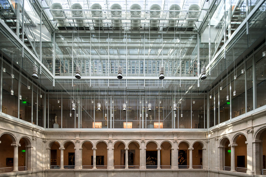 interior view of the Harvard Art Museums; photo by Fred R. Conrad for the New York Times
