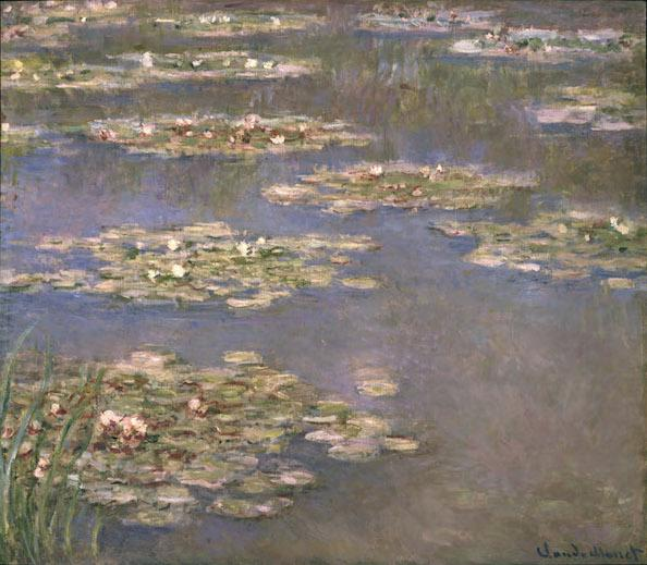 Claude Monet, Nymphéas, 1905; bequest to the Los Angeles County Museum of Art by A. Jerrold Perenchio; photo courtesy of LACMA