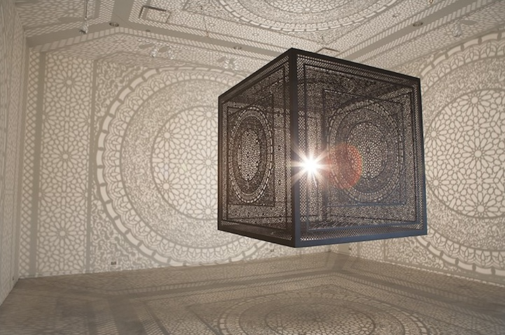 Anila Quayyum Agha, Intersections (installation view, Grand Rapids Art Museum), 2014, image via ArtPrize