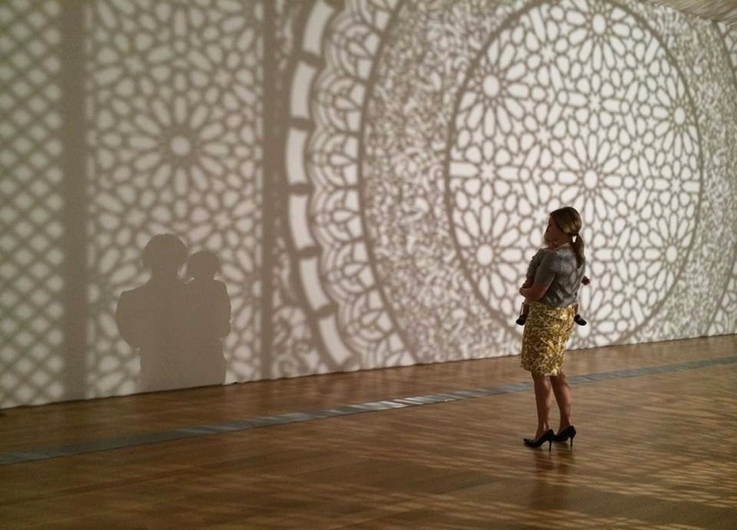 Anila Quayyum Agha, Intersections (installation view, Grand Rapids Art Museum), 2014; image courtesy of the Grand Rapids Art Museum