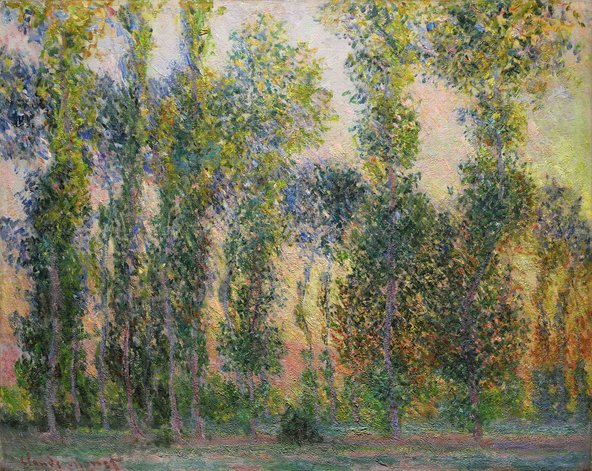 Claude Monet, Les Peupliers à Giverny, 1887; image courtesy of Sotheby's