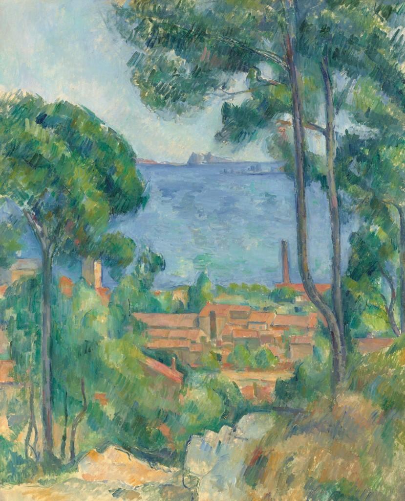 Paul Cézanne, Vue sur l'Estaque et le Château d'If, ca. 1883-1885; image courtesy of Christie's