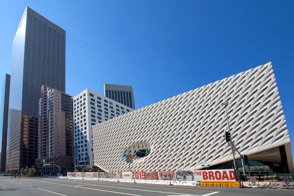 Exterior view of The Broad on February 15, 2015; photo by Elizabeth Daniels for Curbed LA