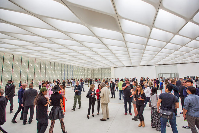 Interior view of The Broad on February 15, 2015; photo by Elizabeth Daniels for Curbed LA