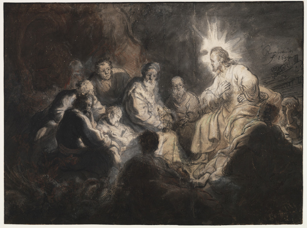 Rembrandt van Rijn, Christ and His Disciples, 1634; pen in brown ink on paper; 472 mm x 601 mm; image courtesy of Teylers Museum