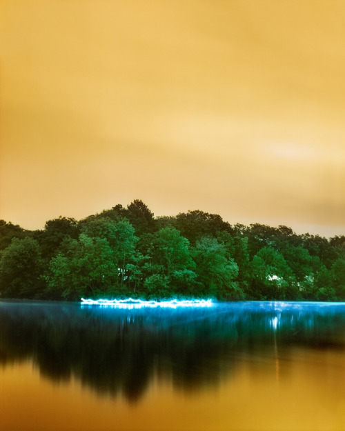 Barry Underwood, Horseshoe Lake, 2013; archival pigment print, 50 x 40 inches; image courtesy of the artist and Sous Les Etoiles Gallery