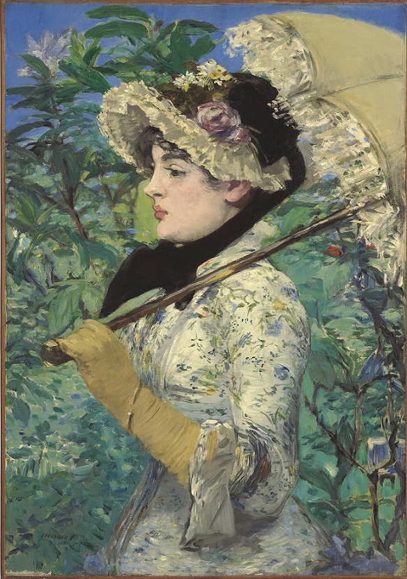 Édouard Manet, Le Printemps (Jeanne Demarsy), 1881; oil on canvas, 29 1/8 x 20 1/4 inches; image courtesy of the Getty's Open Content Program