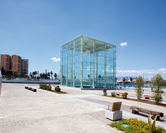 Centre Pompidou Málaga; Muelle Uno designed by L35 Architects; photo by Jose Aznar for Le Monde