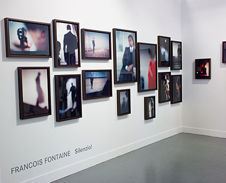 François Fontaine, Silenzio!, 2012; installation view at Leica, Paris Photo Los Angeles, 2015; image courtesy of La Vida Leica