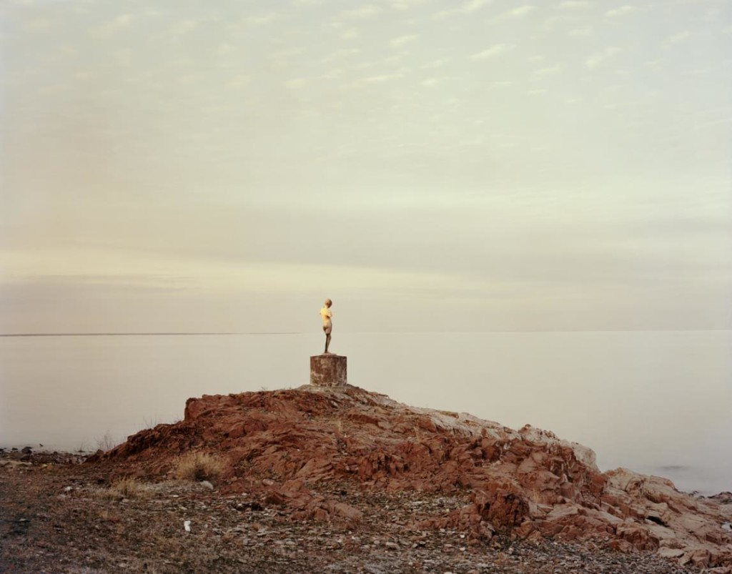 Nadav Kander, Priozersk XIV (I was told she once held an oar), Kazakhstan, 2011; c-print, edition of 30; image © Nadav Kander, courtesy of Flowers Gallery
