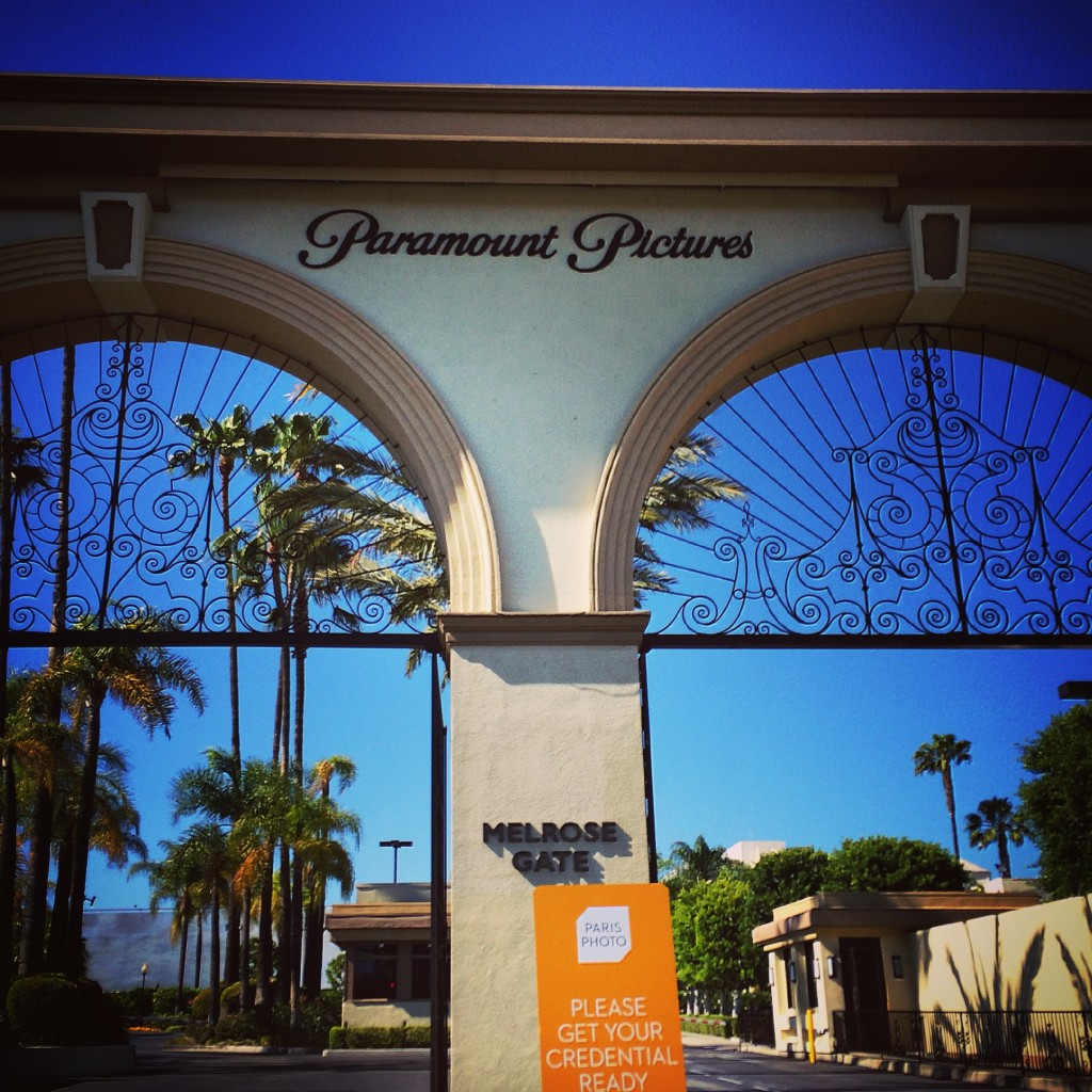The Melrose Gate at Paramount Pictures Studios in Hollywood; Paris Photo Los Angeles, 2015; image © codylee.co
