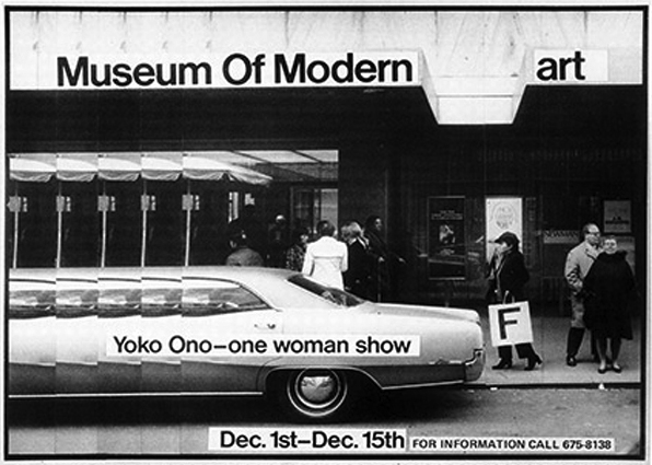Yoko Ono's advertisement published in the Village Voice, December 2, 1971; image via Artforum