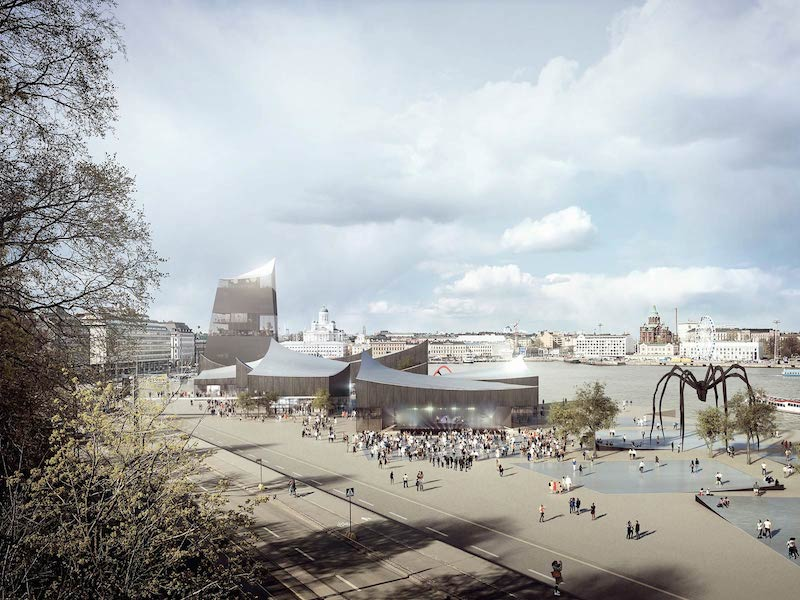 Rendering of the winning design by Moreau Kusunoki Architects for the Guggenheim Helsinki Design Competition; image by artefactorylab, courtesy of Moreau Kusunoki Architects / Guggenheim Helsinki Design Competition