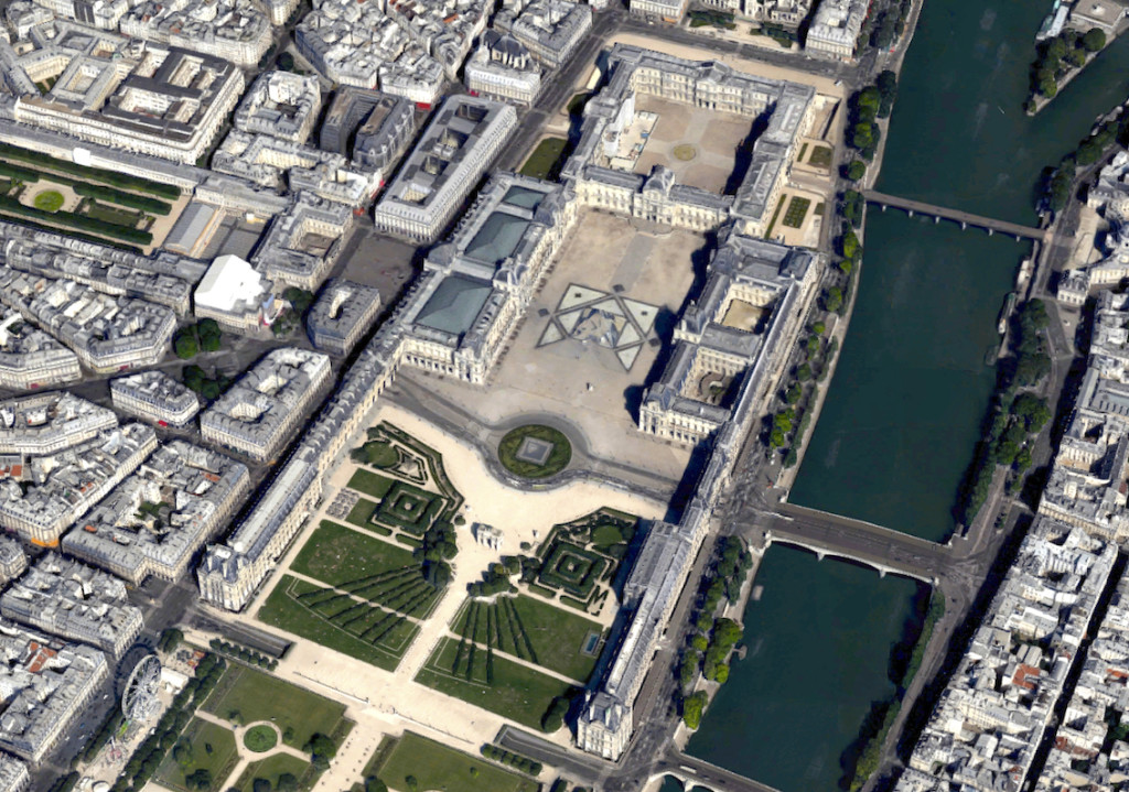 Musée du Louvre; screenshot image from Google Maps