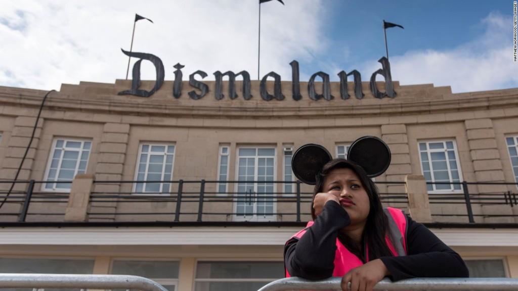 Exterior view of Banksy's Dismaland, 2015; image via CNN