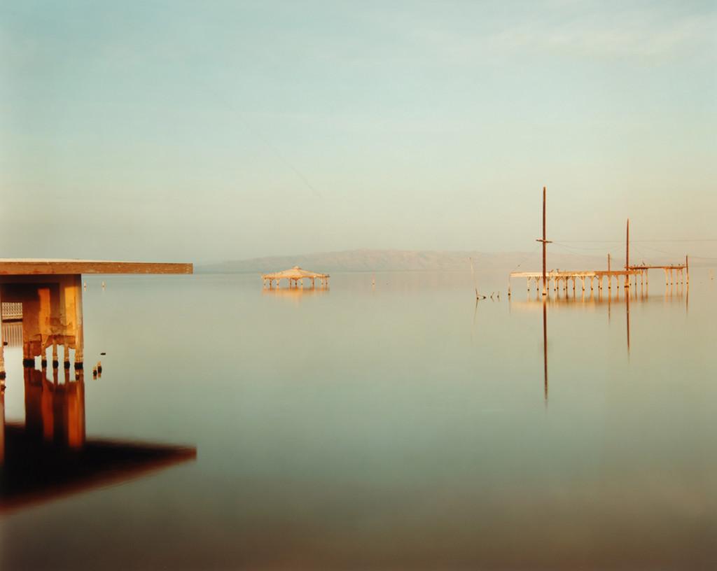 Richard Misrach, Flooded Gazebo Salton Sea, 1986-1988, dye coupler photograph; photo courtesy of the Nasher Museum of Art at Duke University © Richard Misrach