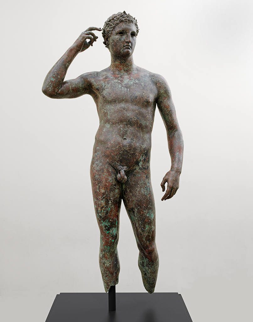 "Victorious Athlete, ""The Getty Bronze,"" 300-100 BC, bronze and copper; The J. Paul Getty Museum; photo courtesy of The J. Paul Getty Museum"