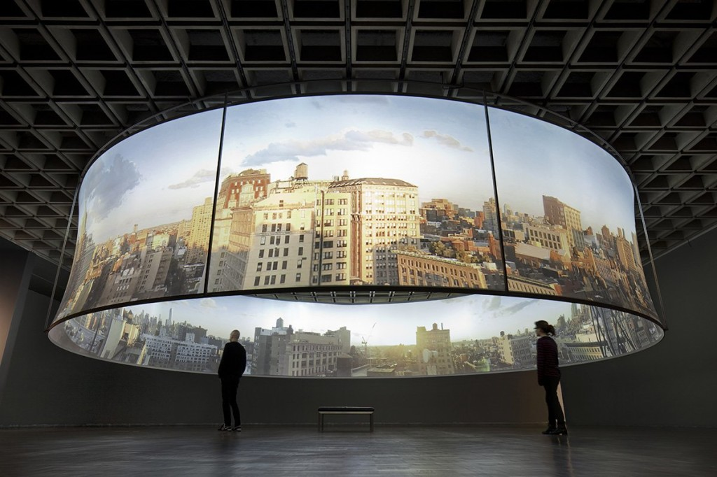 T. J. Wilcox, still from In the Air, 2013; panoramic film installation, installation view at The Whitney, 2013; photo by Bill Jacobson via Metronews