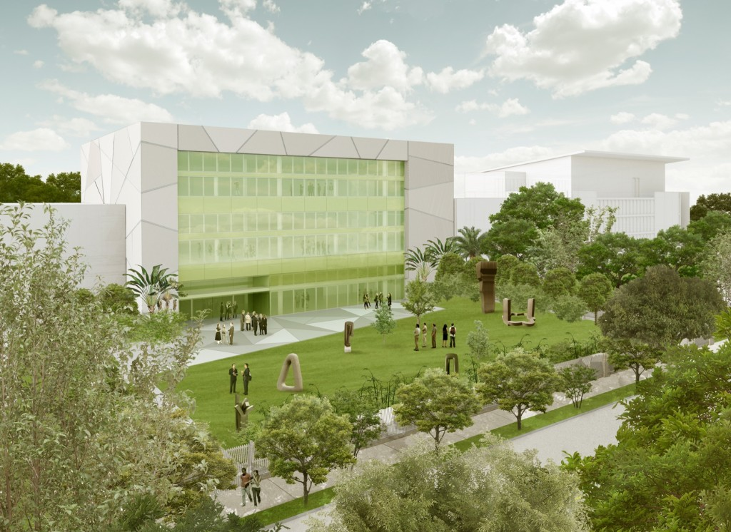 rendering of the ICA in Miami, designed by Aranguren + Gallegos Arquitectos; image via ICA Miami