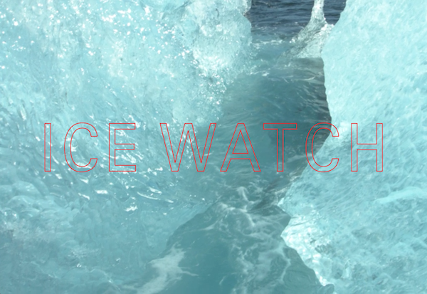 Video still from #IceWatchParis © 2015 Ólafur Elíasson