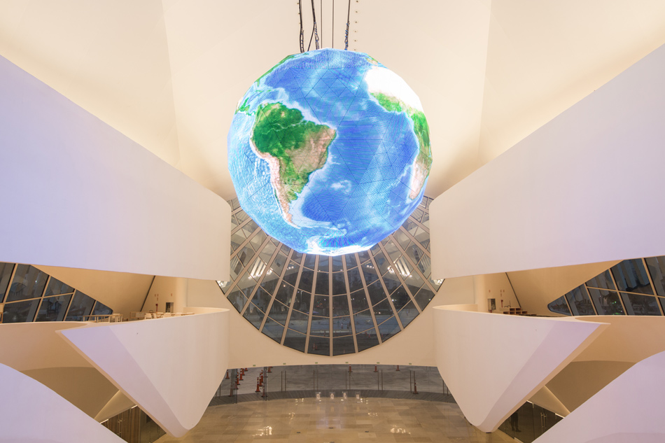 The Museu do Amanhã (Museum of Tomorrow) in Rio de Janeiro, Brazil; designed by Santiago Calatrava; photo by Thales Leite