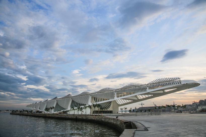 The Museu do Amanhã (Museum of Tomorrow) in Rio de Janeiro, Brazil; designed by Santiago Calatrava; photo by Bernard Lessa
