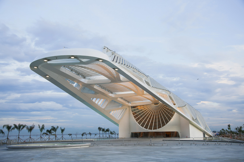 The Museu do Amanhã (Museum of Tomorrow) in Rio de Janeiro, Brazil; designed by Santiago Calatrava; photo by Bernard Lessa