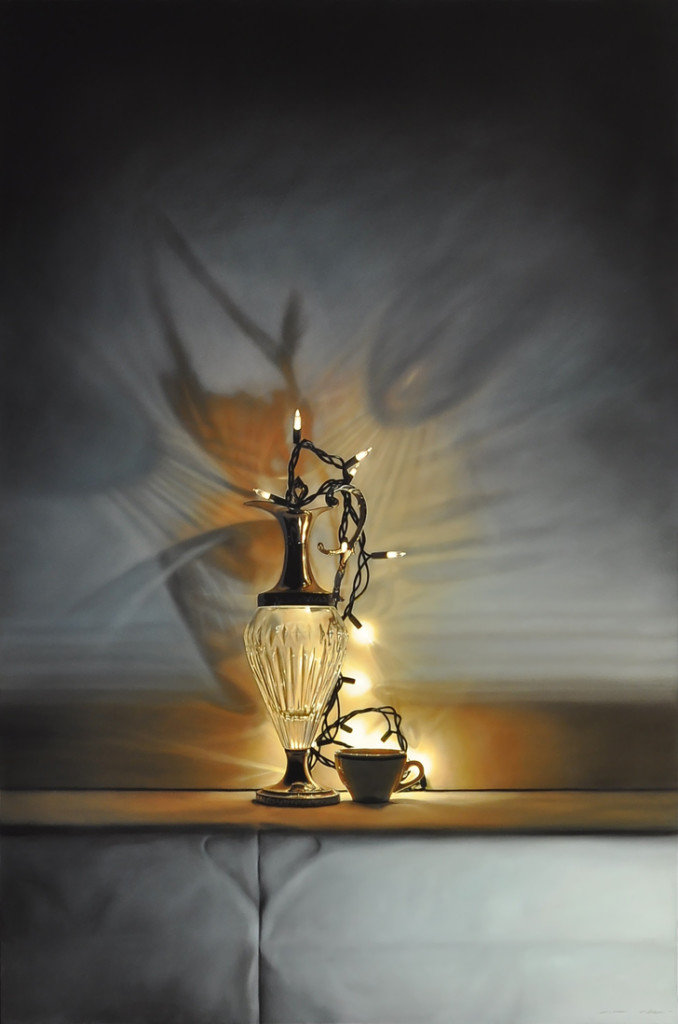Tom Betts, Lantern Light and Cup, 2016; oil on panel, 36 x 24 inches; © Tom Betts