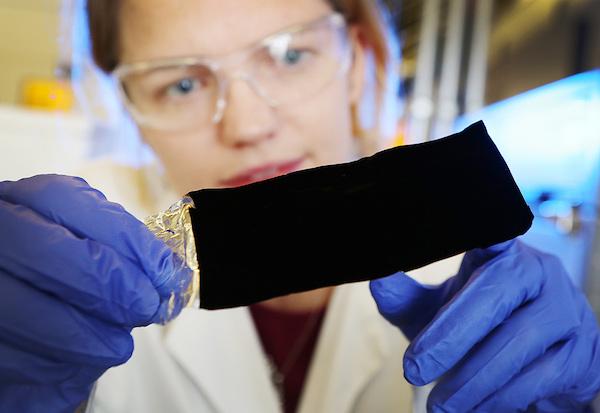 Vantablack; image via Surrey NanoSystems