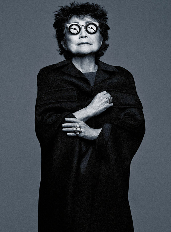 Yoko Ono, photo by Craig McDean / Abaca via Le Figaro