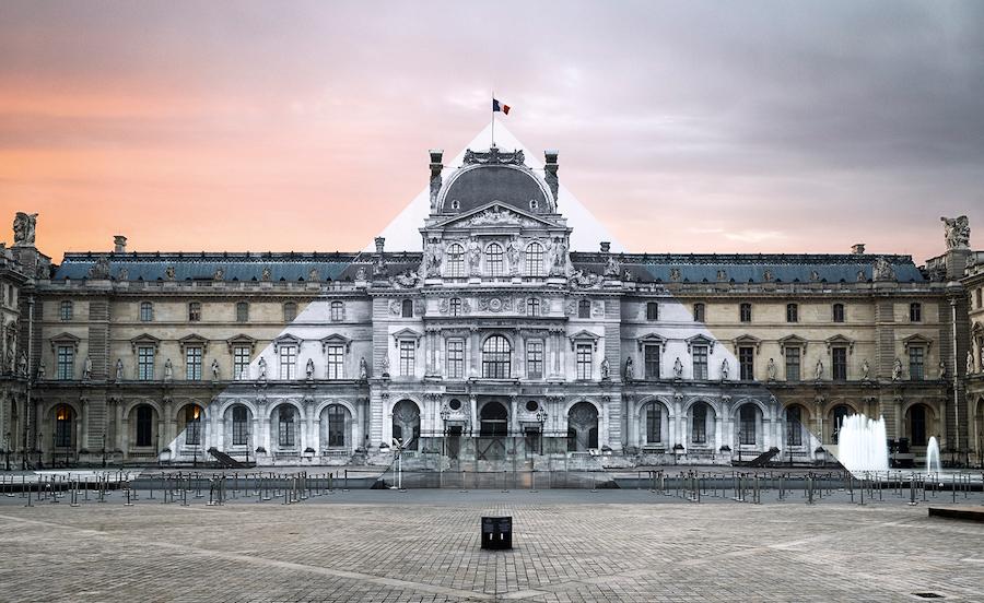 JR au Louvre; image by JR © jr-art.net