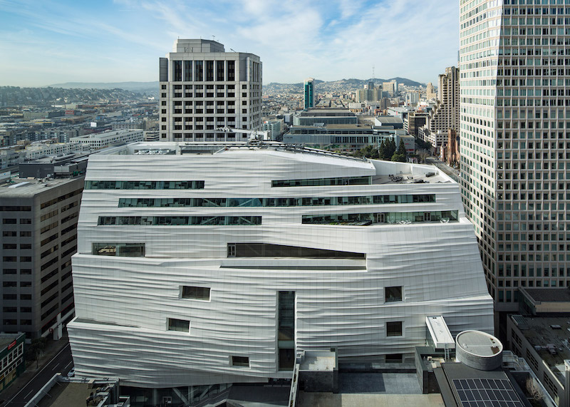Exterior view of the new SFMOMA, designed by Snøhetta; image © Henrik Kam, courtesy of SFMOMA