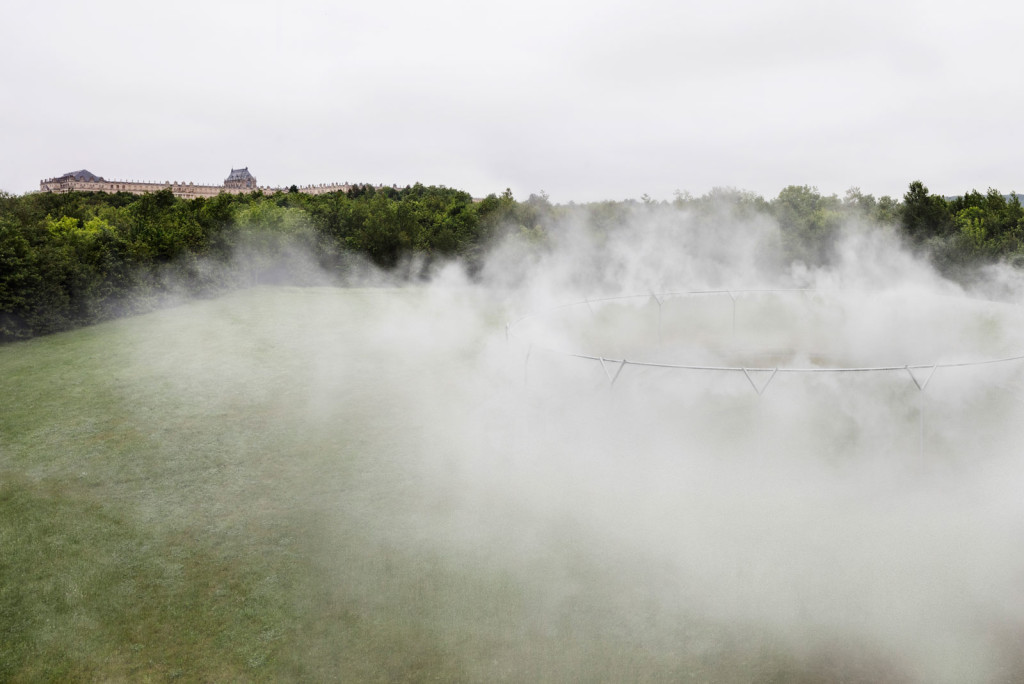 Ólafur Elíasson, Fog Assembly, 2016; installation view at the Château de Versailles; photo by Anders Sune Berg, © Ólafur Elíasson