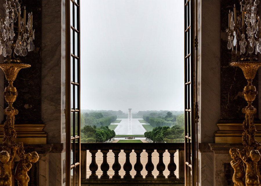 Ólafur Elíasson, Waterfall, 2016; installation view at the Château de Versailles; photo by Anders Sune Berg, © Ólafur Elíasson