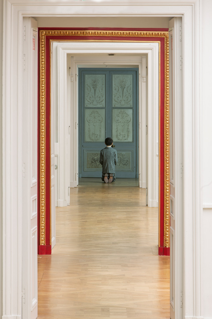 Maurizio Cattelan, Him, 2001, installation view at the Monnaie de Paris, 2016; photo by Zeno Zotti, courtesy of the Monnaie de Paris