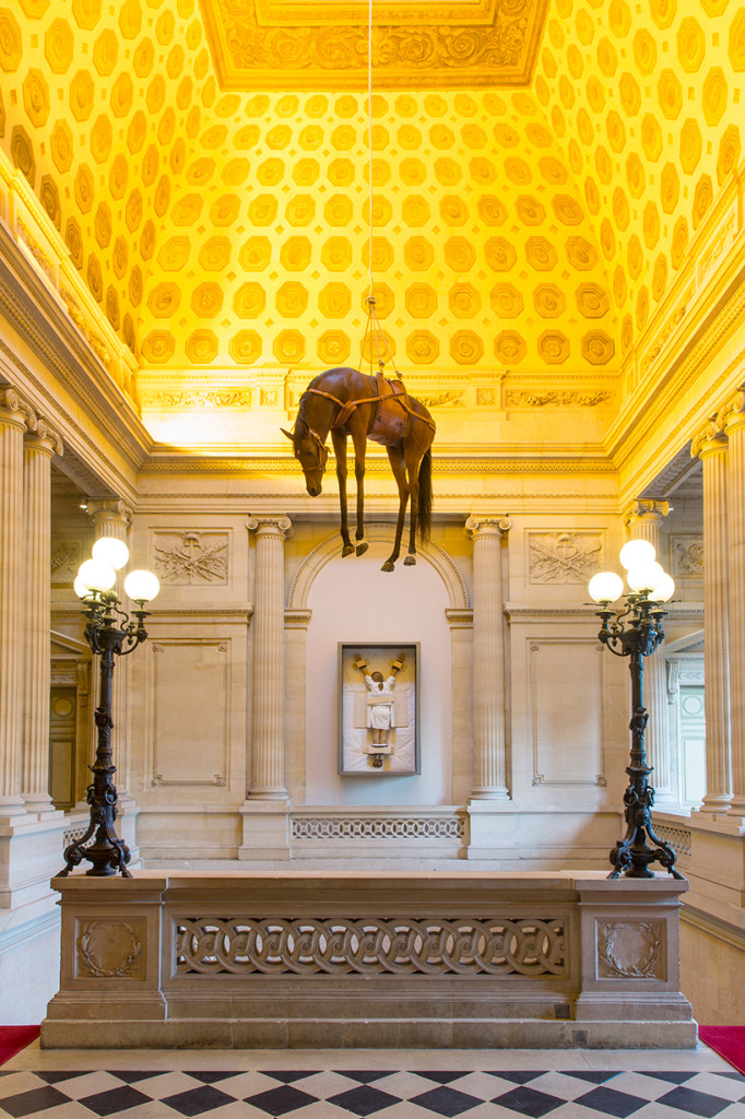 Maurizio Cattelan, Novocento, 1997, installation view at the Monnaie de Paris, 2016; photo by Zeno Zotti, courtesy of the Monnaie de Paris