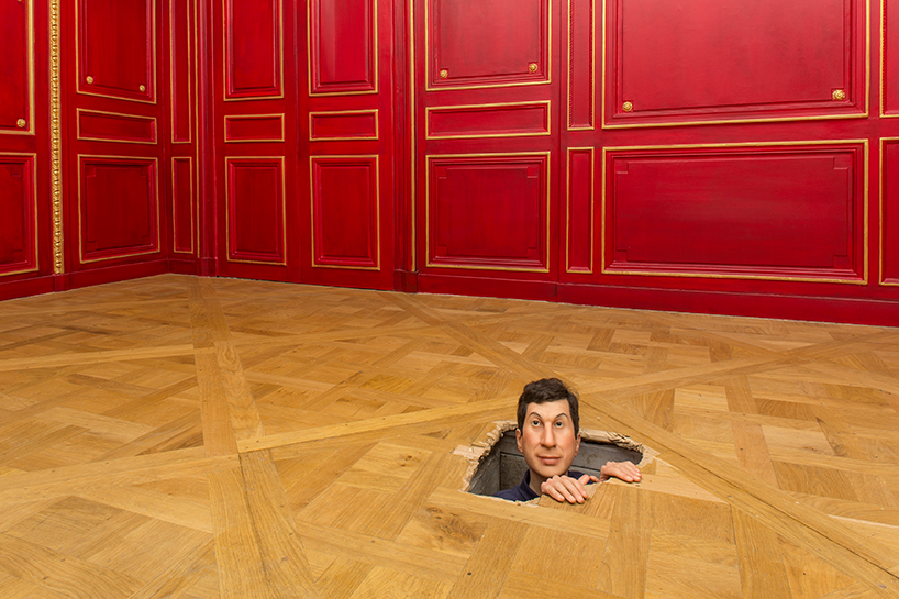 Maurizio Cattelan, Untitled (2001), installation view at the Monnaie de Paris, 2016; photo by Zeno Zotti, courtesy Monnaie de Paris