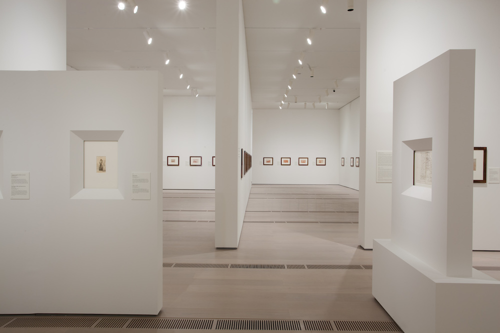 Installation view of Ligereza y atrevimiento. Dibujos de Goya; photo courtesy of Centro Botín