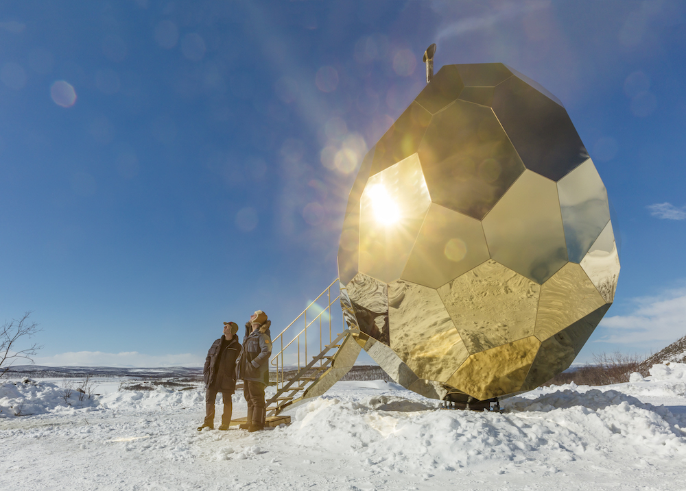 Bigert and Bergström, Solar Egg, 2017; installation view, I stormens öga, 2017; photo by Futurniture, courtesy of Artipelag