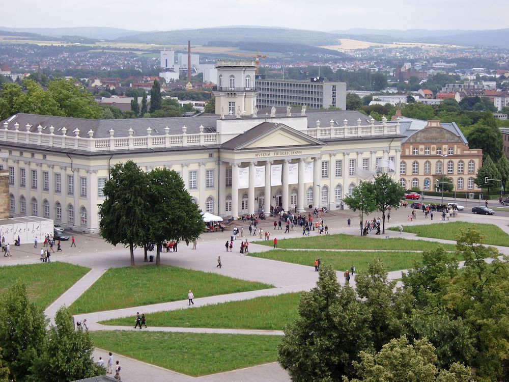 The Friedrichsplatz and Fridericianum, Kassel, Germany, photo by Carroy via Wikimedia Commons